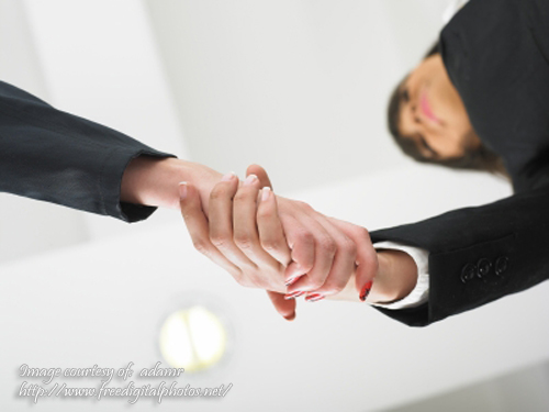 handshaking at Low Angle