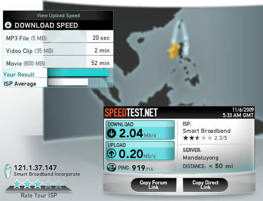 speedtest-smartbro