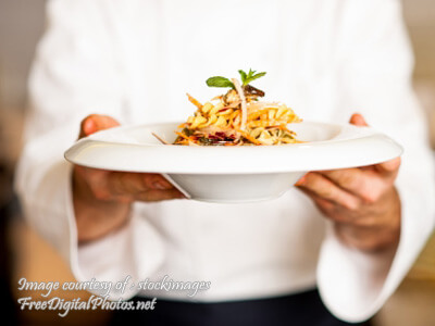 Chef Offering Pasta
